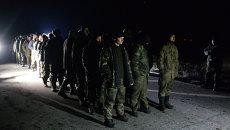 Обмен пленными между ополченцами ДНР, ЛНР и украинскими силовиками. 22 февраля 2015