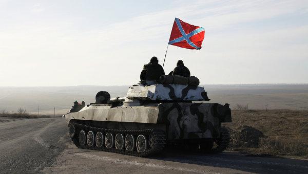 Тяжелая военная техника ополчения ДНР. Архивное фото