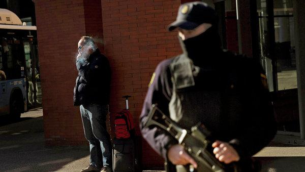 Испанский полицейский. Архивное фото