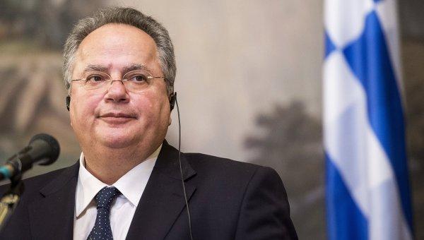 Глава МИД Греции Никос Котзиас