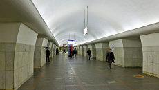 Станция метро Октябрьская Калужско-Рижской линии. Архивное фото