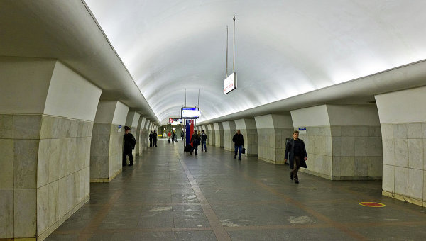 Станция метро Октябрьская Калужско-Рижской линии