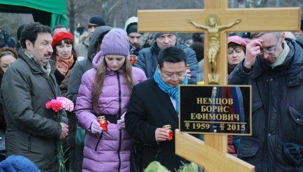 Жители Москвы на похоронах политика Бориса Немцова. Архивное фото