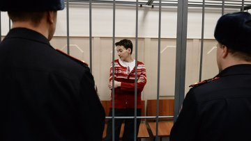 Украинская летчица Надежда Савченко в Басманном суде Москвы