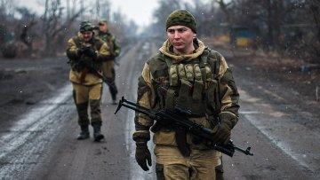 Ополченцы ДНР в Чернухино Донецкой области. Архивное фото