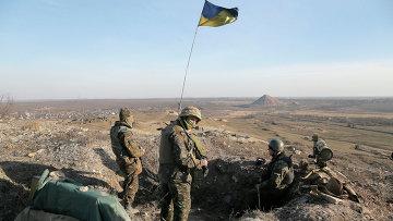 Украинские военные в Донецкой области. Март 2015. Архивное фото