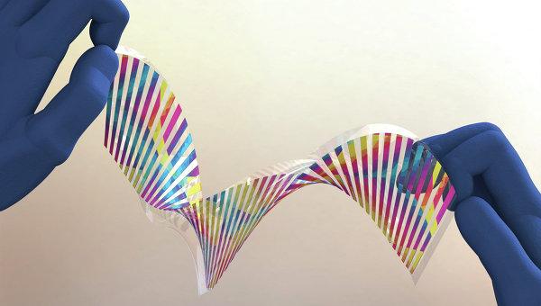 Компьютерная модель фрагмента искусственной хамелеоновой кожи