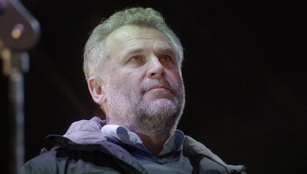 Алексей Чалый на площади Нахимова в Севастополе, февраль 2014