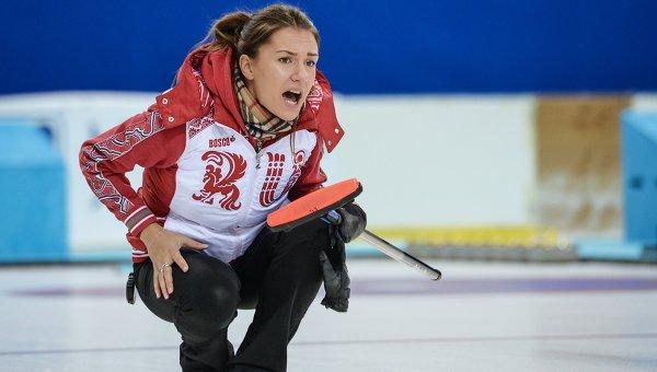 Игрок сборной России по керлингу Анна Сидорова. Архивное фото