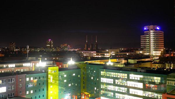Вид города Ганновер, Германия