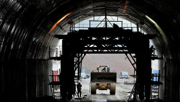 Строительство Нарвинского тоннеля в Приморском крае. Архивное фото