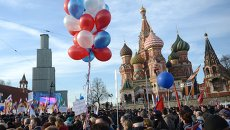 Митинг-концерт на Васильевском спуске, посвященный годовщине присоединения Крыма