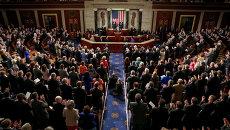 Совместное заседание Сената и Палаты представителей Конгресса США в Вашингтоне