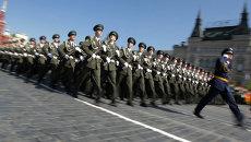 Парад Победы на Красной площади в Москве.Архивное фото.