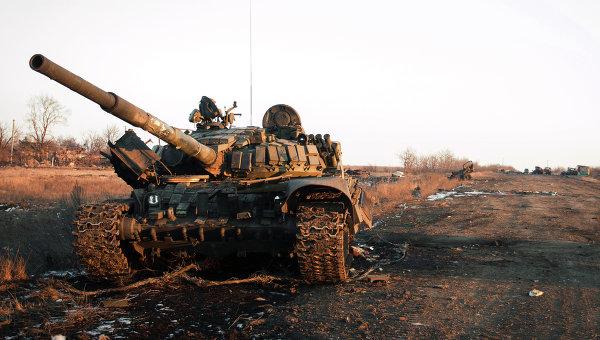 Уничтоженная украинская военная техника во время боевых действий