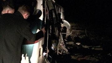 Автобус подорвался на мине в Донбассе