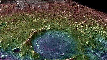 Трехмерная топографическая карта кратера Йезеро, полученная зондом MRO