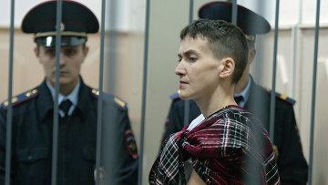 Украинская летчица Надежда Савченко в Басманном суде Москвы. Архивное фото