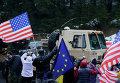 Конвой военной техники НАТО в Чехии