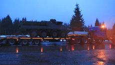 Военный конвой США со сломанным Stryker встал на трассе Польша-Чехия