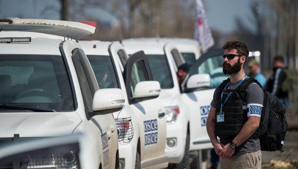 Наблюдатели ОБСЕ в Донбассе, архивное фото