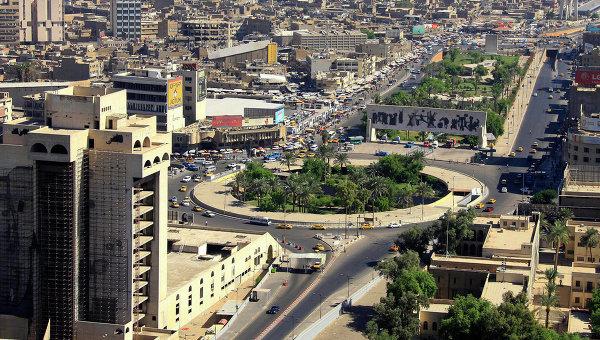 Вид с воздуха на Багдад, Ирак