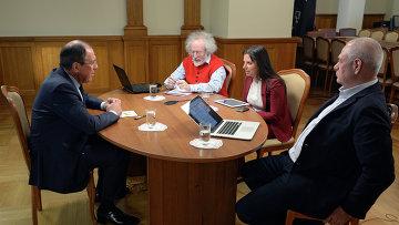 Интервью главы МИД РФ С.Лаврова радиостанциям Спутник, Эхо Москвы и Говорит Москва