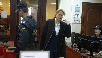 Бывшая глава департамента имущественных отношений министерства обороны России Евгения Васильева в Пресненском суде Москвы 24 апреля 2015