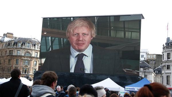 Видеообращение мэра Лондона Бориса Джонсона. Архивное фото