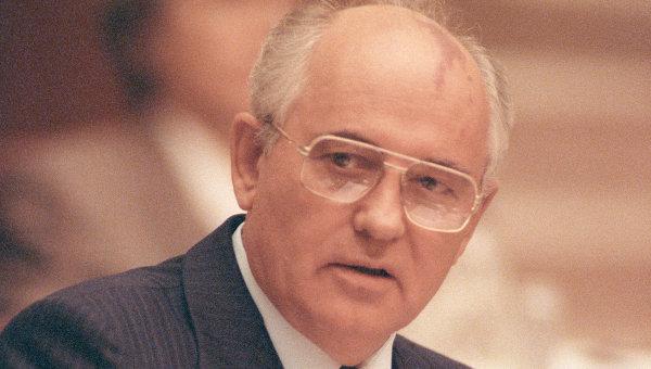 Выступление М.Горбачева на сессии ВС СССР. Архив