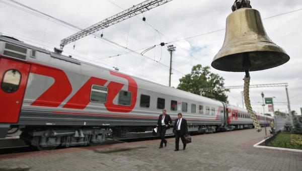 Поезд ОАО РЖД на Рижском вокзале
