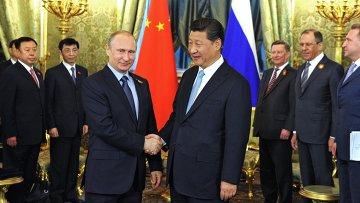Президент России В.Путин встретился с председателем КНР Си Цзиньпинем