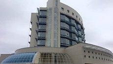 Шайба - здание будущего штаба Роскосмоса
