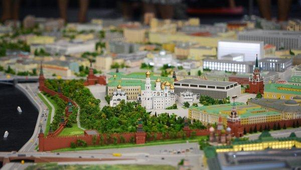 Макет Москвы. Архивное фото
