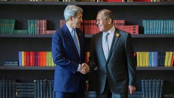 Встреча главы МИД РФ С. Лаврова и госсекретаря США Дж.Керри. Архивное фото