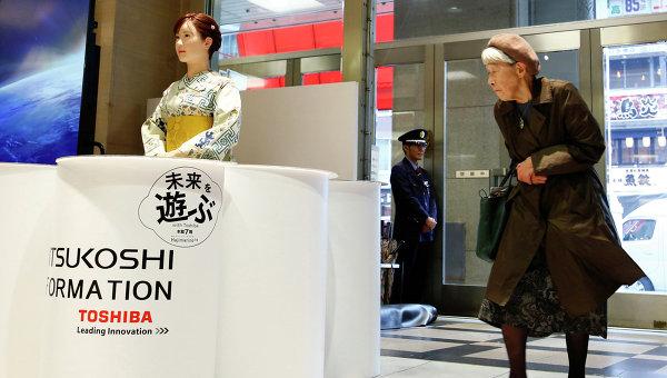 Человекоподобный робот Aiko Chihira, разработка Toshiba. Архивное фото