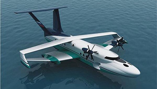 Проект морского базового экраноплана А-050-742d