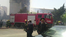 Пожарная машина в Баку. Архивное фото