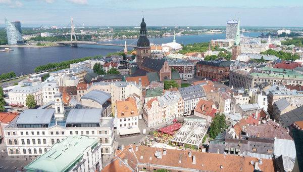 Вид на столицу Латвии город Ригу. Архивное фото