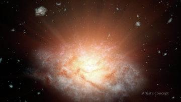 Так художник представил себе галактику WISE J224607.57-052635.0 в созвездии Водолея