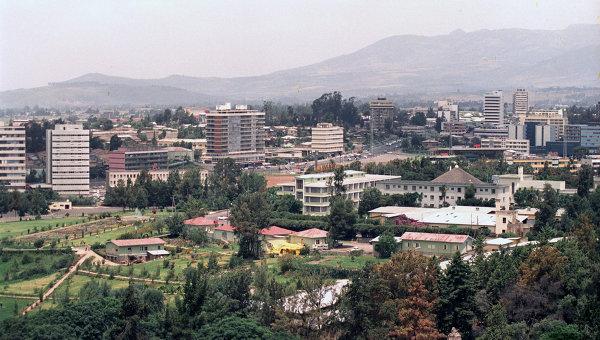 Город Аддис-Абеба, столица Эфиопии. Архивное фото