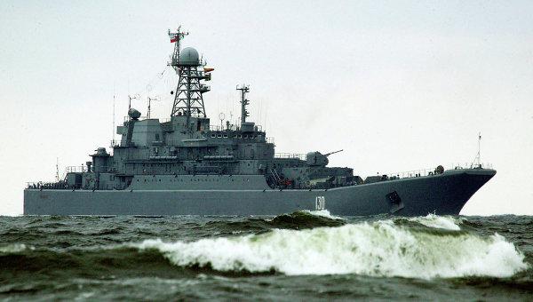 БДК Королев в море