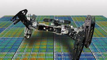 Шестиногий робот-паук, обладающий способностью гибко адаптироваться к повреждению конечностей