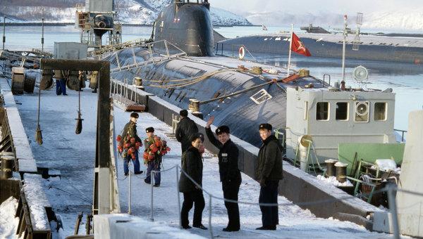База атомных подводных лодок Северного флота. Архивное фото