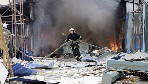 Последствия обстрелов Донецка. 3 июня 2015