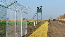 Участок границы Украины с Россией