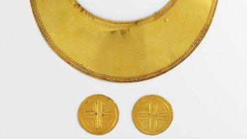 Золотые украшения времен Бронзового века, найденные в Ирландии
