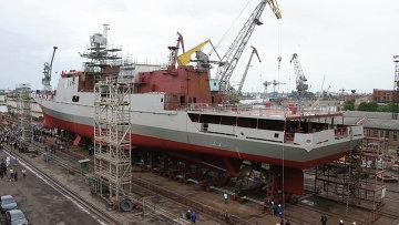 Строительство фрегата проекта 11356. Архивное фото