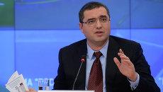 Лидер молдавской партии Patria (Родина) Ренато Усатый на пресс-конференции в Москве