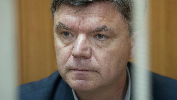 Экс-председатель думы Хабаровского края Виктор Чудов в Басманном суде Москвы. Архивное фото